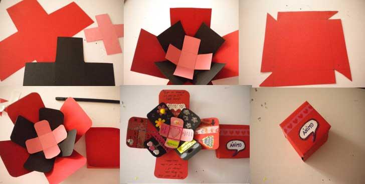 Fotos De Cajas Decoradas En Blanco Rojo Y Negro
